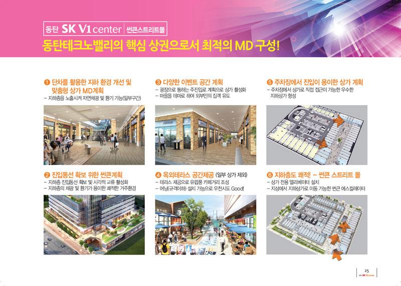 동탄SK V1 동탄테크노밸리의 핵심 상권으로써 최적의 md 구성!