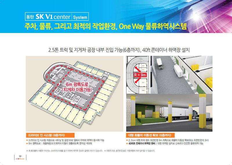 동탄SK V1 주차, 물류, 그리고 최적의 작업환경, oNE wAY 물류하역시스템