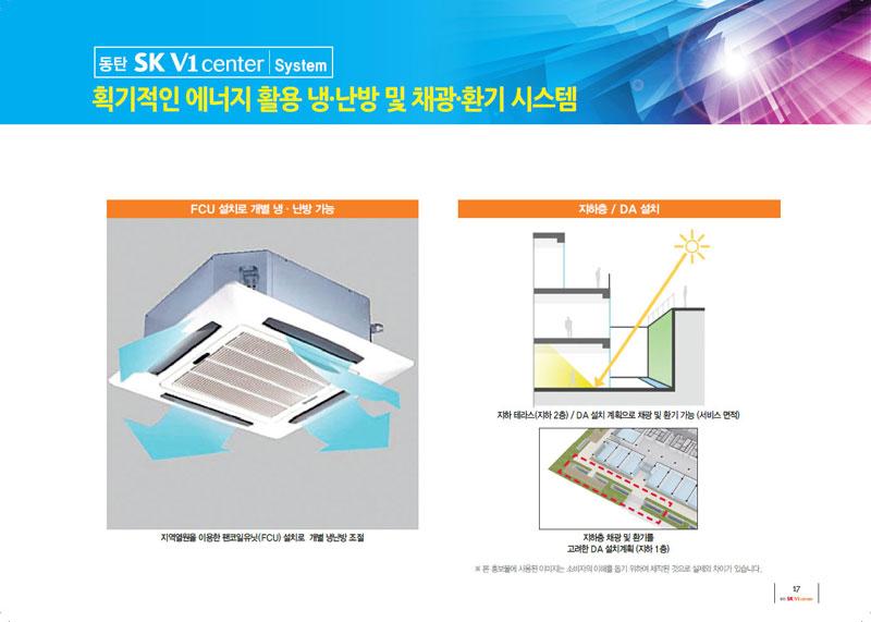 동탄SK V1 획기적인 에너지 활용 / 냉·난방 및 채광·환기 시스템